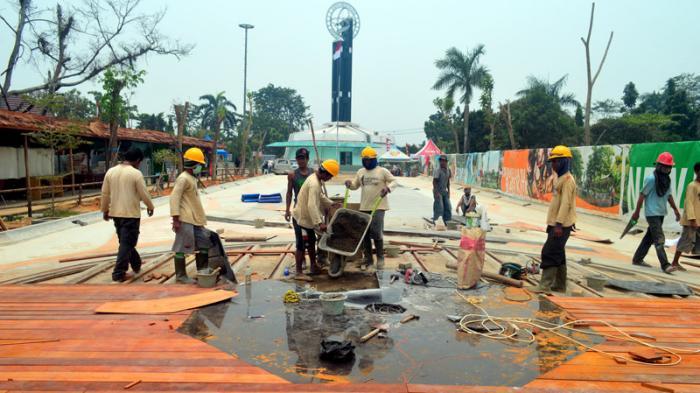 Renovasi Taman Tugu Khatulistiwa Lambat Tribun Pontianak Kab