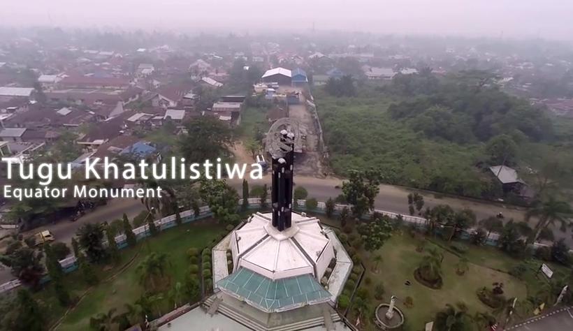 Video Keindahan Kota Pontianak Indah Dilihat Tugu Khatulistiwa Kab