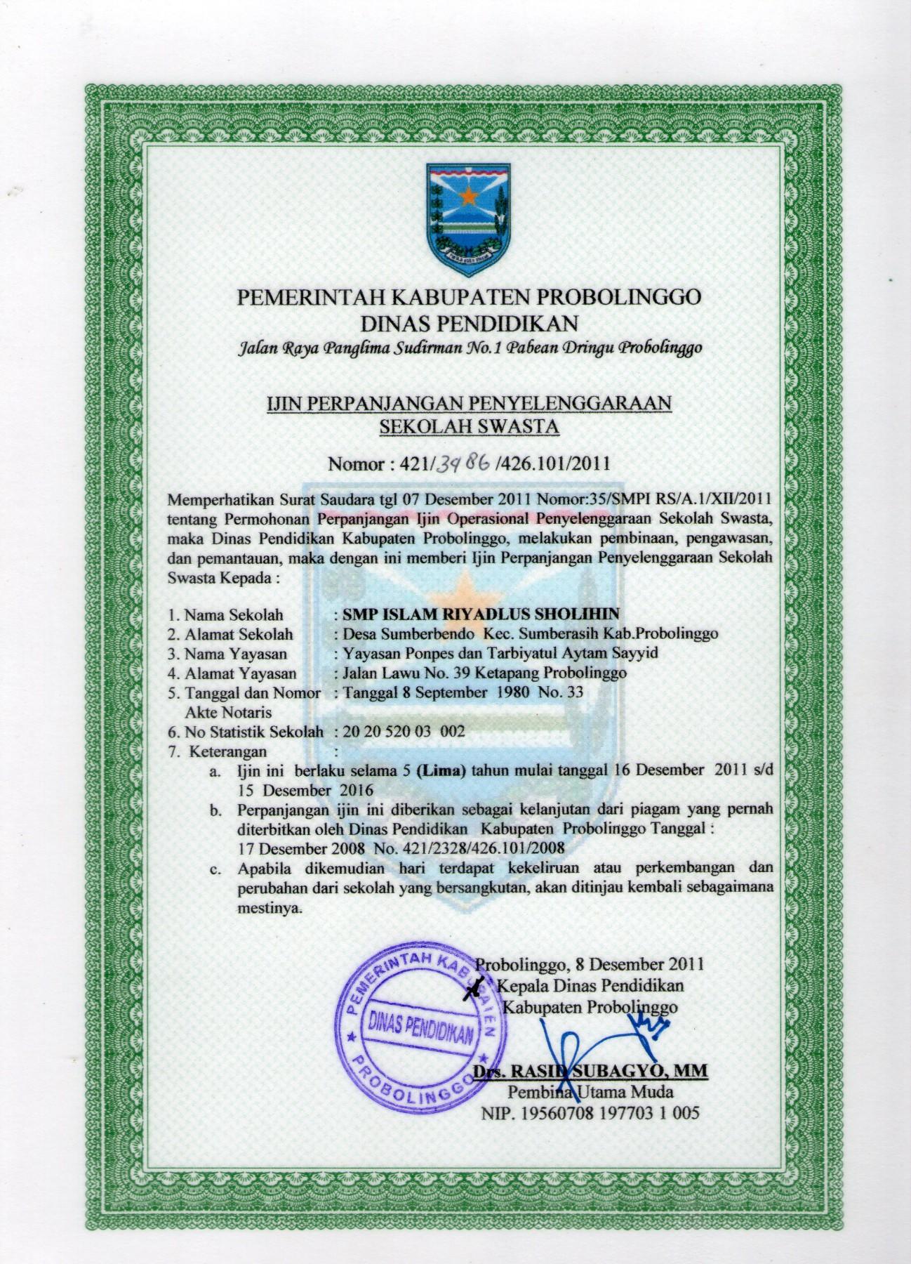 Data Referensi Pendidikan File Sk Operasional 11236268 Pdf Agrowisata Sumberbendo