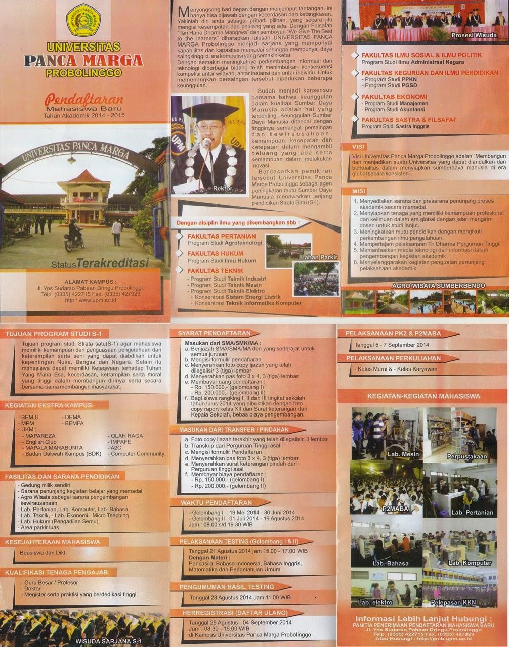 Komunitas Mahasiswa Ekonomi Universitas Panca Marga Probolinggo 21 2014 Agrowisata