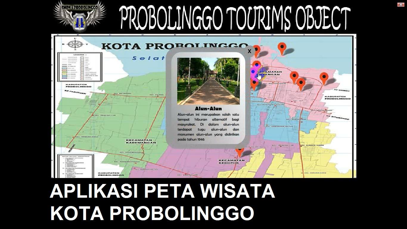 Aplikasi Peta Wisata Kota Probolinggo Buatan Siswa Smpn 5 Youtube