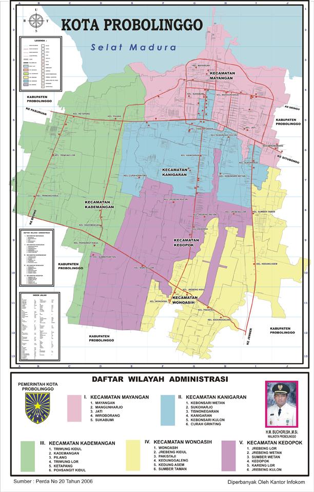 Ariagus Blog Sekilas Tentang Kota Probolinggo Peta Alun Kab
