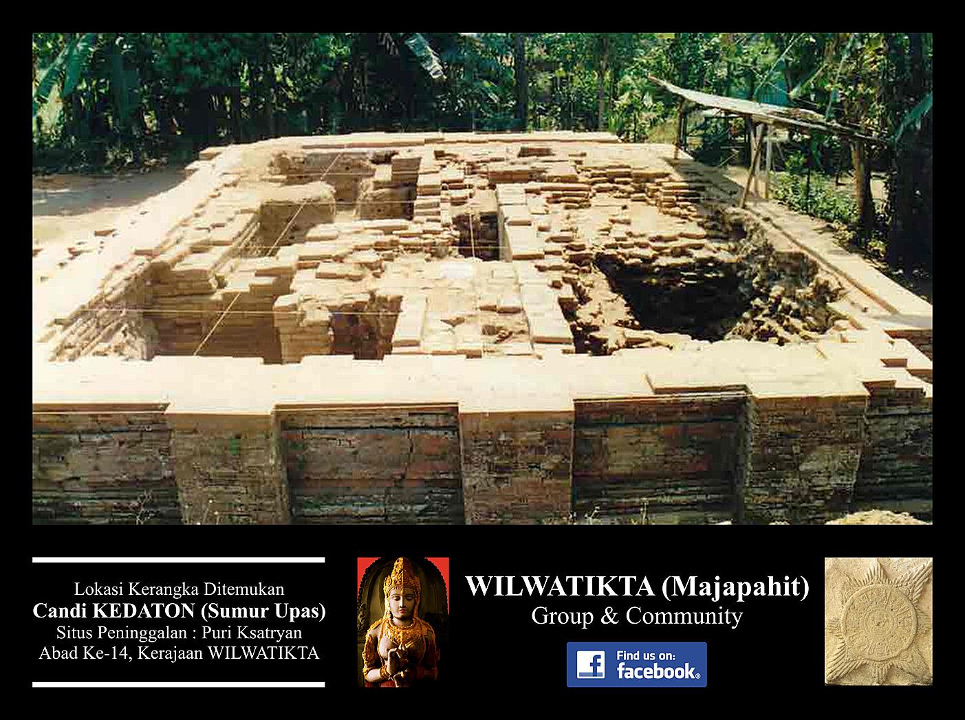 Candi Kedaton Sumur Upas Peninggalan Kerajaan Wilwatikta Perhatikan Bentuk Bangunan