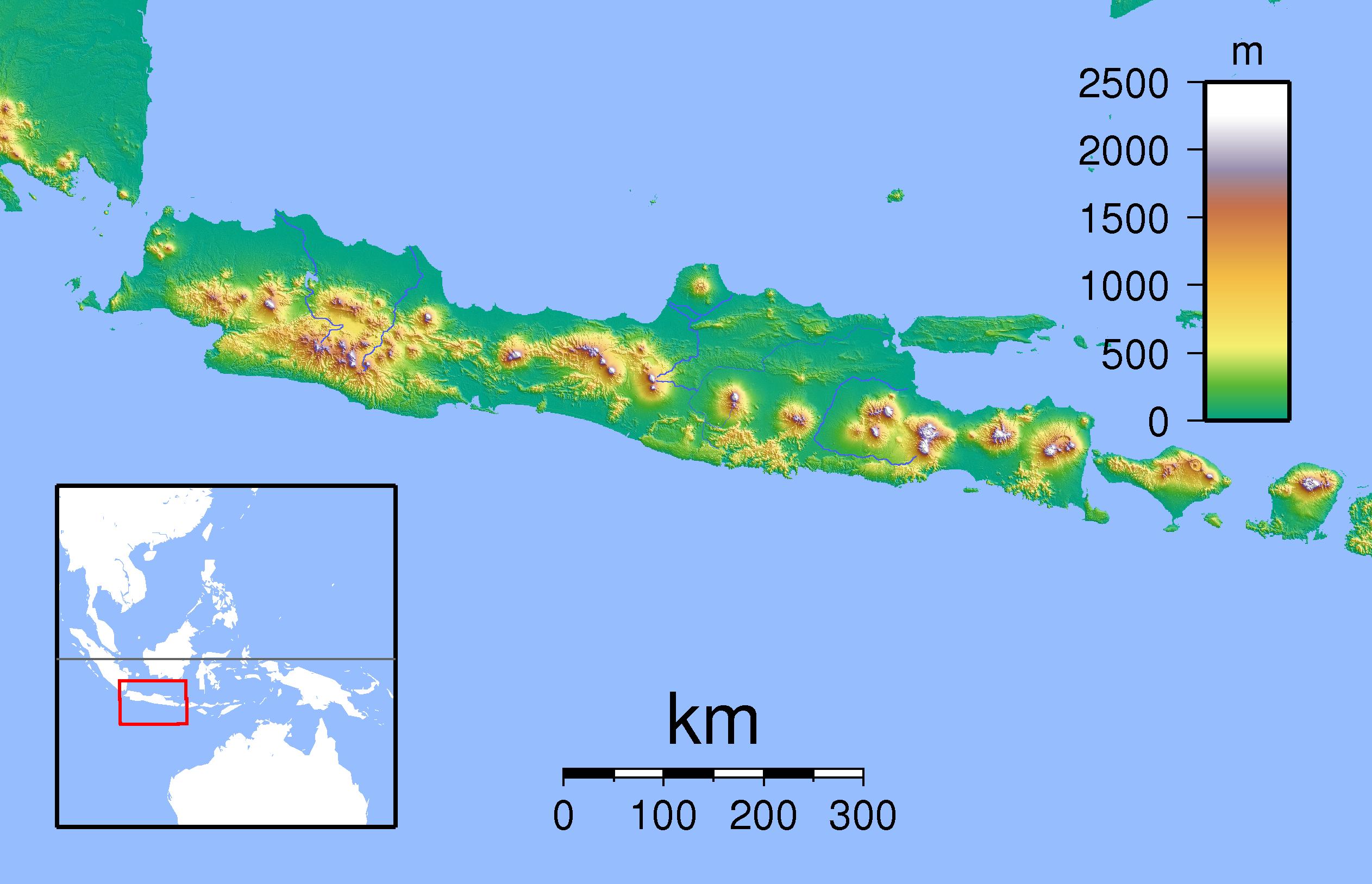 Gunung Argapura Wikipedia Bahasa Indonesia Ensiklopedia Bebas Argopuro Located Jawa