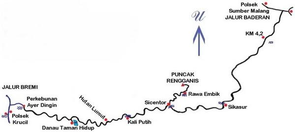 Gunung Argopuro Jawa Timur Wisata Indonesia Peta Jalur Pendakian Gn
