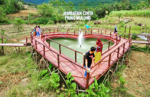 Jembatan Cinta Pring Wulung Wisata Indonesia Purbalingga Jawa Tengah Instagram