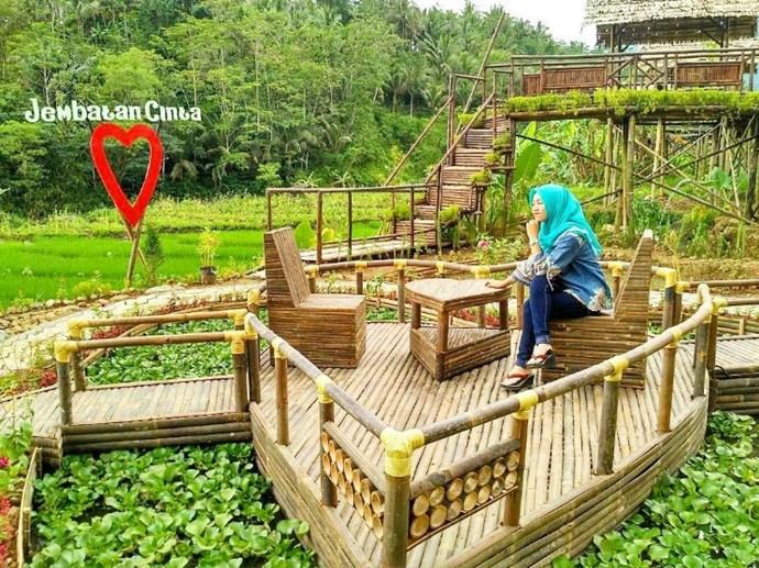 Panusupan Desa Wisata Andalan Purbalingga Traveling Yuk Jembatan Cinta Pring