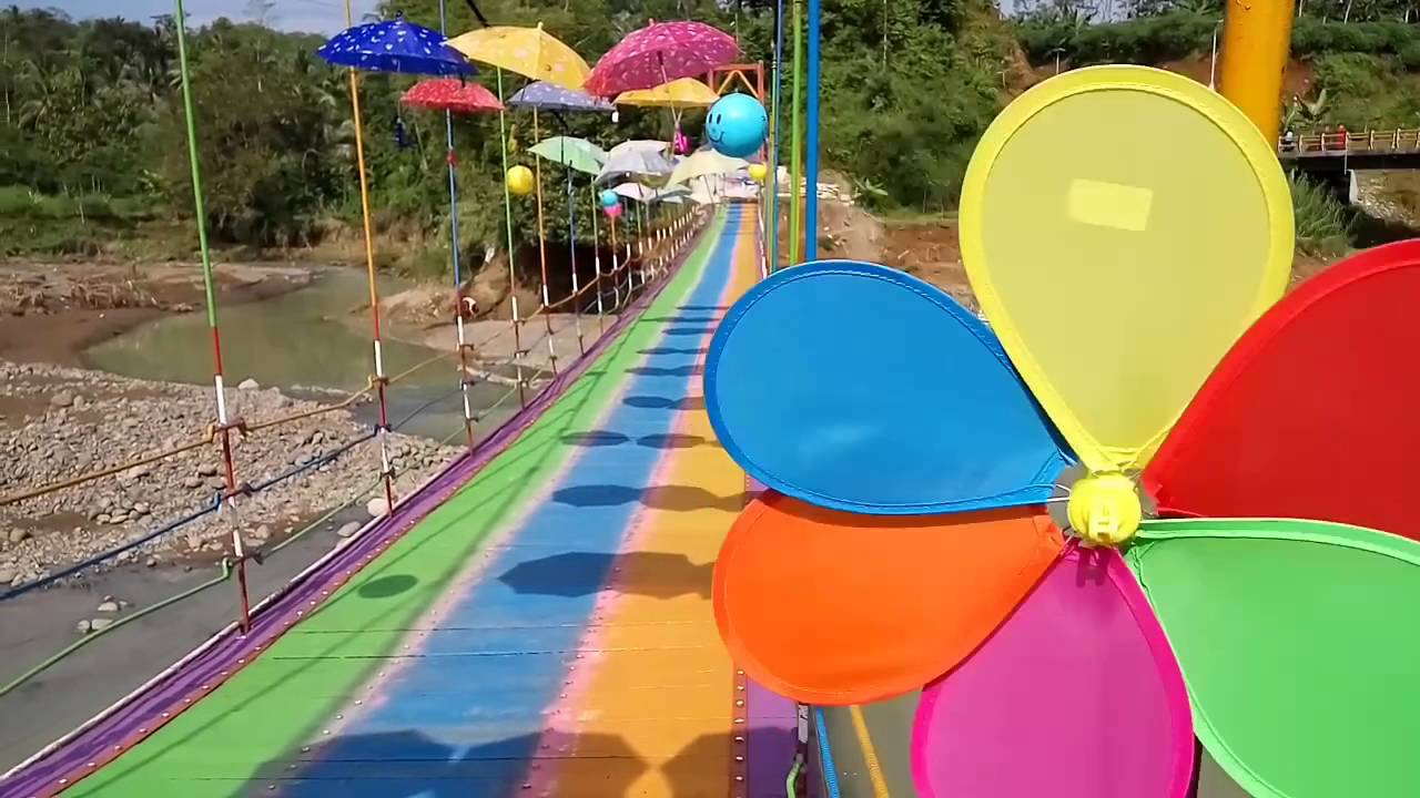 Jembatan Pelangi Maju Mundur Cantik Sumingkir Rembang Purbalingga Kab
