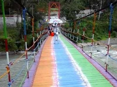 Pesona Keindahan Destinasi Wisata Jembatan Pelangi Rembang Purbalingga Jawa Tengah