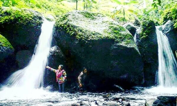 Desa Wisata Panusupan Surga Nyata Kabupaten Purbalingga Air Terjun Kembar