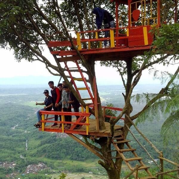 Desa Wisata Panusupan Surga Nyata Kabupaten Purbalingga Rumah Pohon Igir