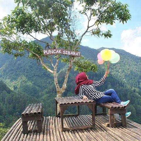 Obyek Wisata Puncak Sibarat Purbalingga Jawa Tengah Lokasi Kab