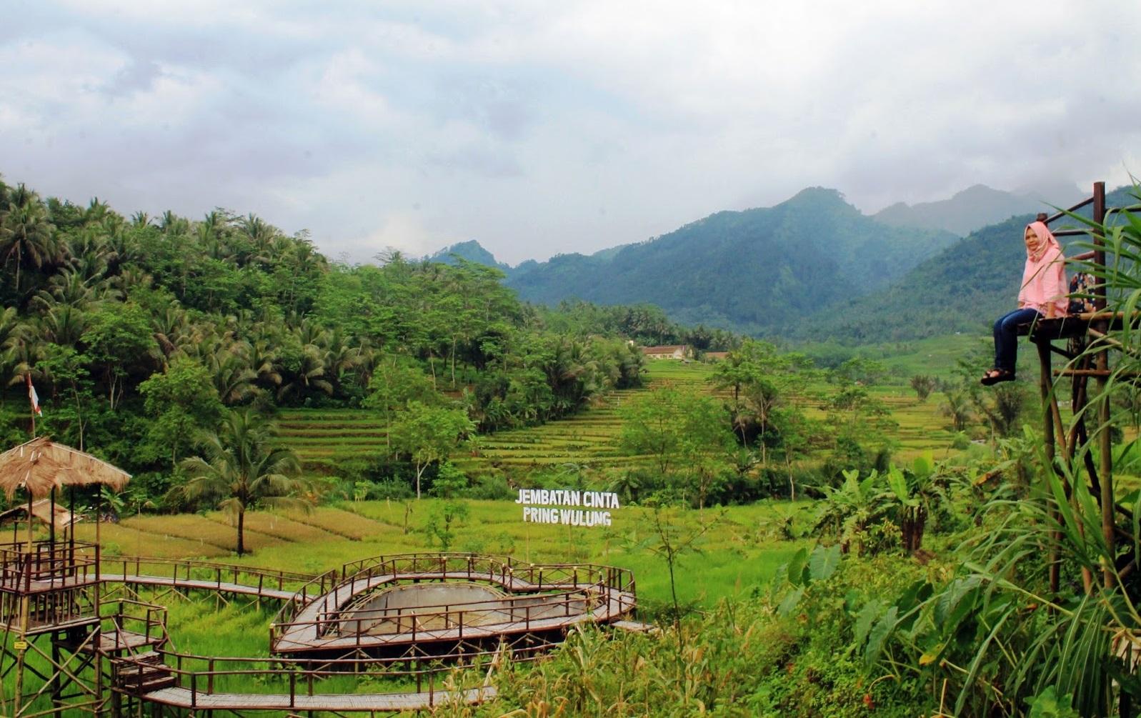 Jembatan Cinta Desa Wisata Panusupan Purbalingga Rembang Dok Wisbangga Rumah