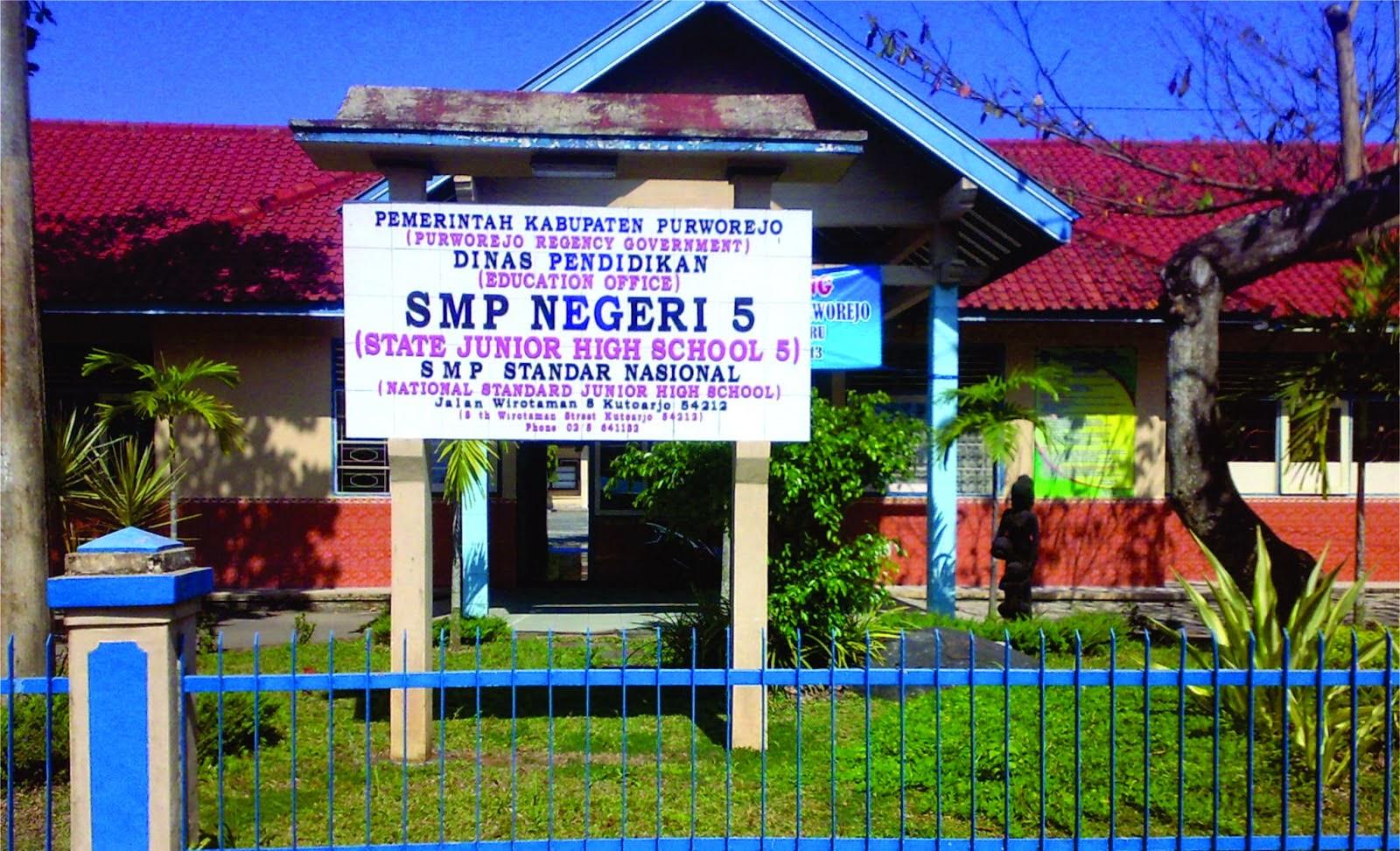 Sekolah Favorit Purworejo Wisatapurworejoblog Smpn 5 Berstandar Ssn Beralamat Jl