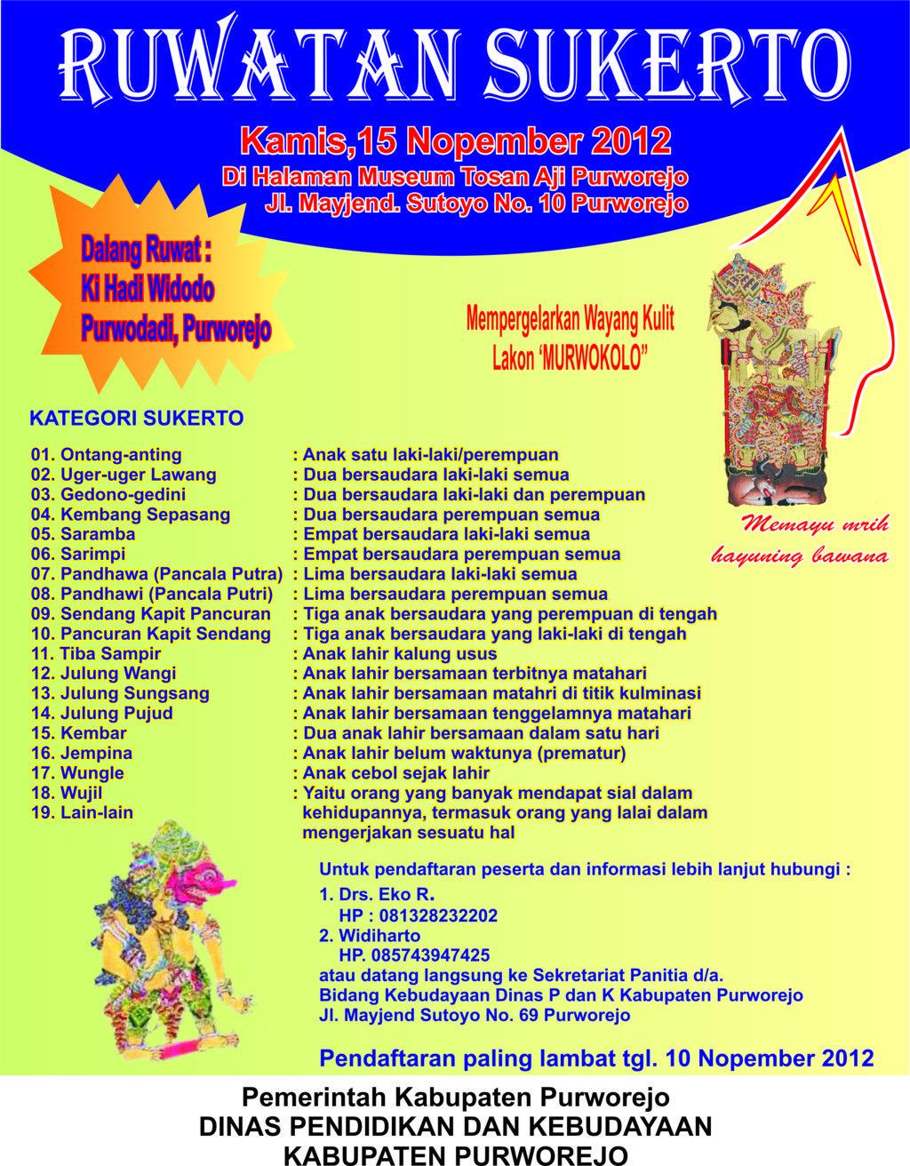 Budaya Purworejo Ruwatan Sukerto Jamasan Tosan Aji 2012 Museum Kab