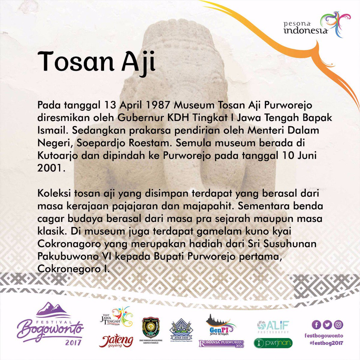 Festivalbogowonto Twitter Museum Tosan Aji Menarik Wajib Dikunjungi Ya Festivalbogowonto2017