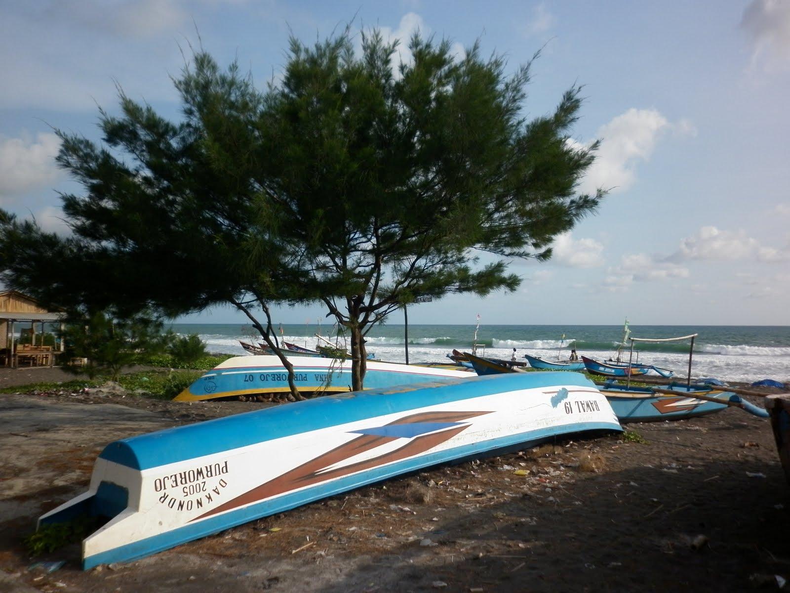 Keindahan Pantai Jatimalang Purworejo Jawa Tengah Kab