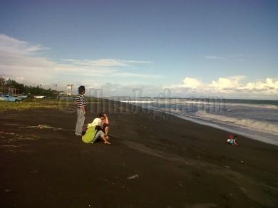 Pantai Jatimalang Purworejo Sepi Pengunjung Liburan Tribun Jogja Kab