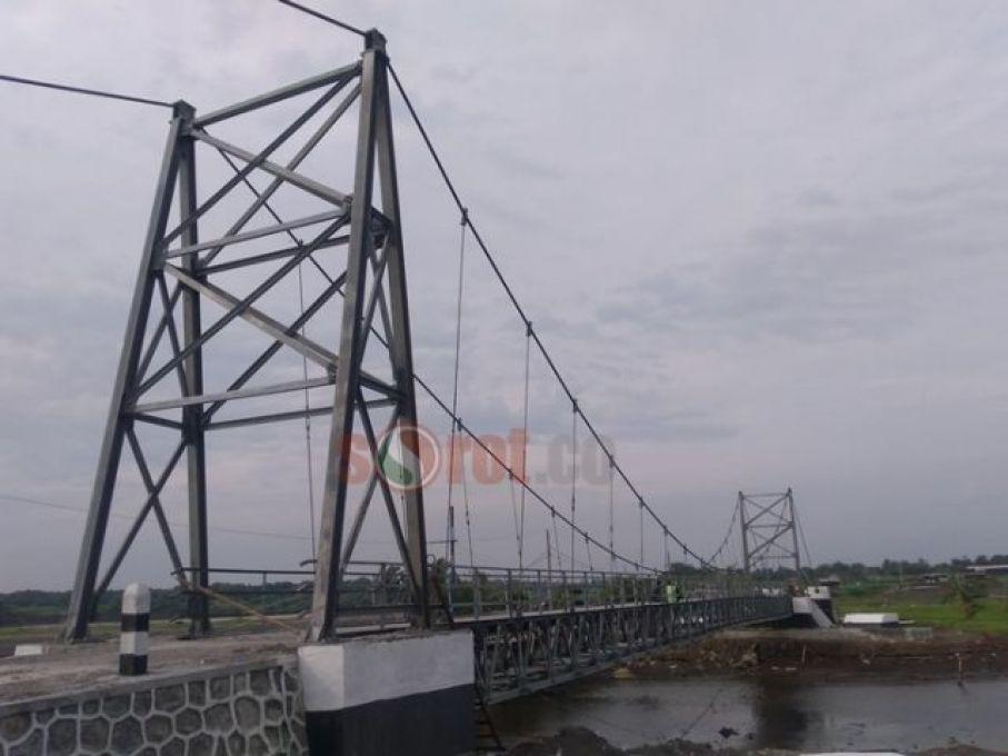 Sorotpurworejo Media Berita Online Purworejo Molor Proyek Jembatan Gantung Pasir