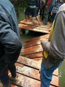 Usai Jembatan Hutan Bakau Ambruk Pihak Desa Punya Solusi Radio