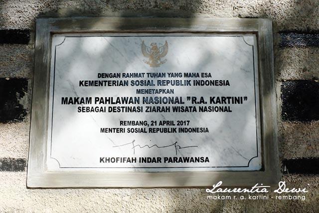 Makam Pahlawan Nasional Kartini Djojo Adhiningrat Rembang Raden Ajeng Ra