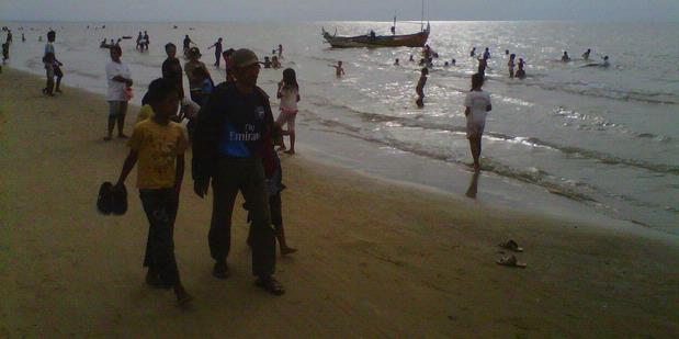 Wisata Berita Rembang Suasana Pantai Caruban Foto Kompas Binangun Indah