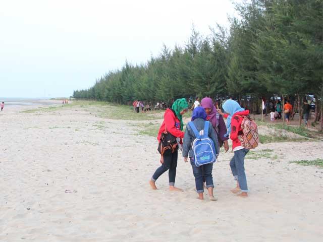 Beauty White Sand Karang Jahe Beach Tourism Gemza Pantai Caruban
