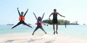 Foto Pesona Pantai Caruban Lasem Pulau Gede Wates Kaliori Rembang