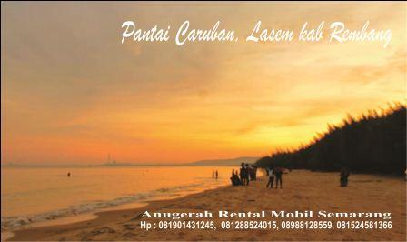 Menikmati Sunset Menawan Pantai Caruban Rembang Anugerah Lasem Kab
