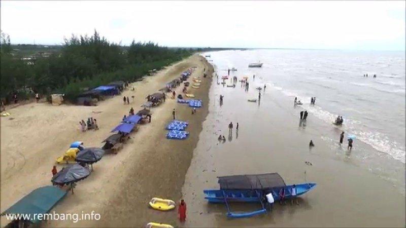 Pantai Karang Jahe Rembang Memanas Zona Rantau Panas Kab
