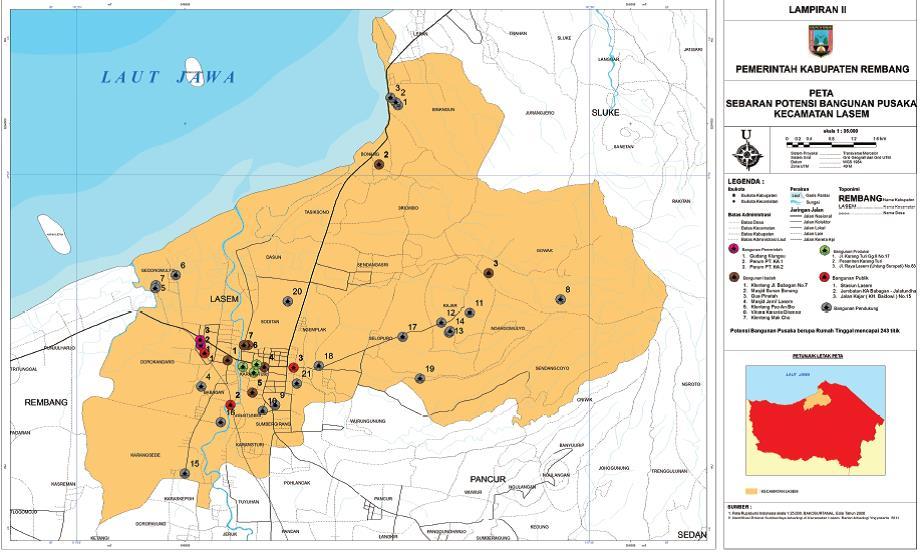 Lasem Sebuah Laboratorium Sejarah Harmoni Kerekatan Sosial Gambar Peta Sebaran