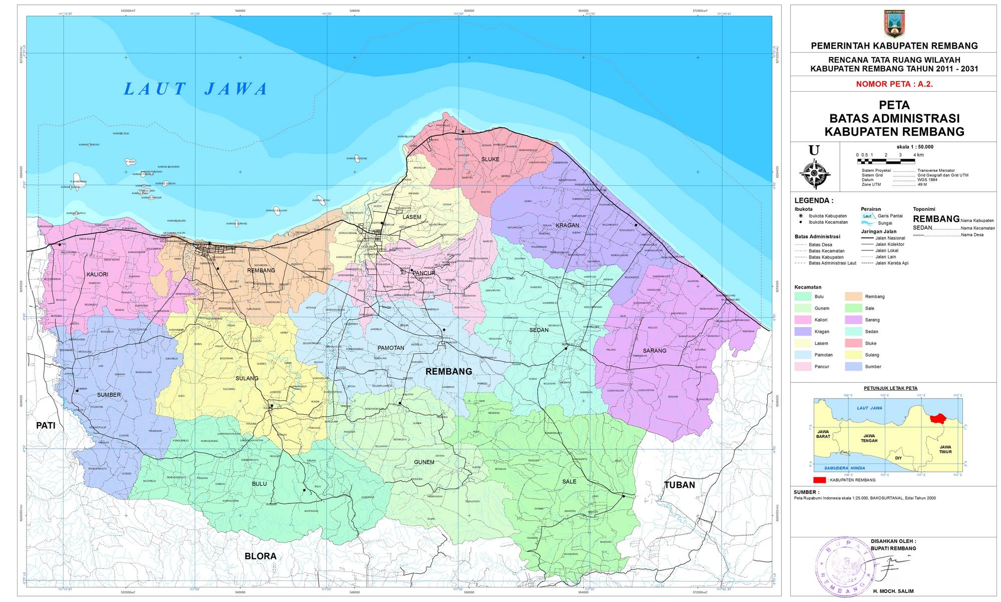 Profil Kabupaten Rembang Lukmana Masterplan Situs Sejarah Kota Kab