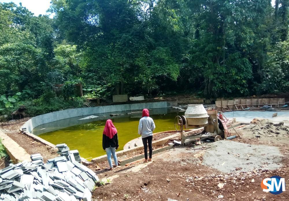 Progres Pembangunan Wisata Sumber Semen 40 Persen Proses Pengerjaan Alam