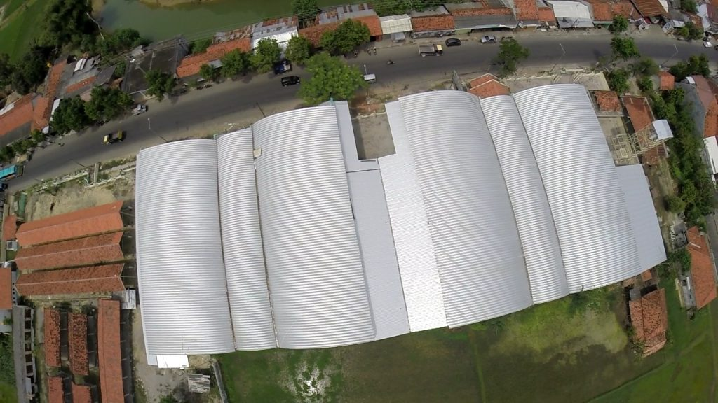 Atap Rangka Utomodeck Pasar Margalela Sampang Pt Sambungan Margalega Stasiun