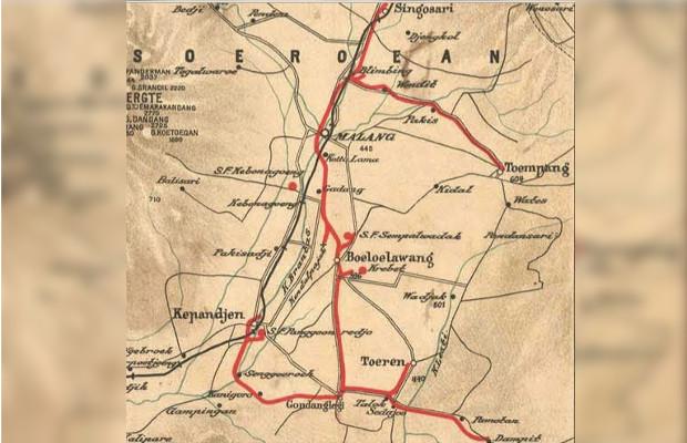Peristiwa Bernostalgia Menatap Jalur Kereta Api Malang Stoomtram Peta Kabupaten
