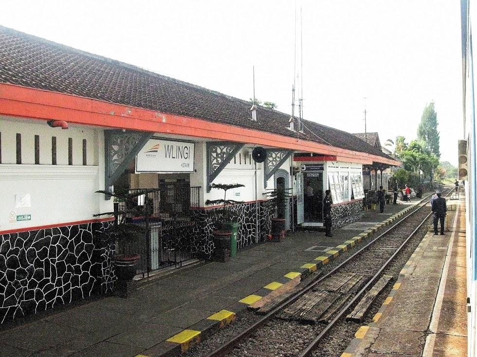 Stasiun Ka Wlingi Kabupaten Blitar Indonesia Kereta Api Kota Sampang