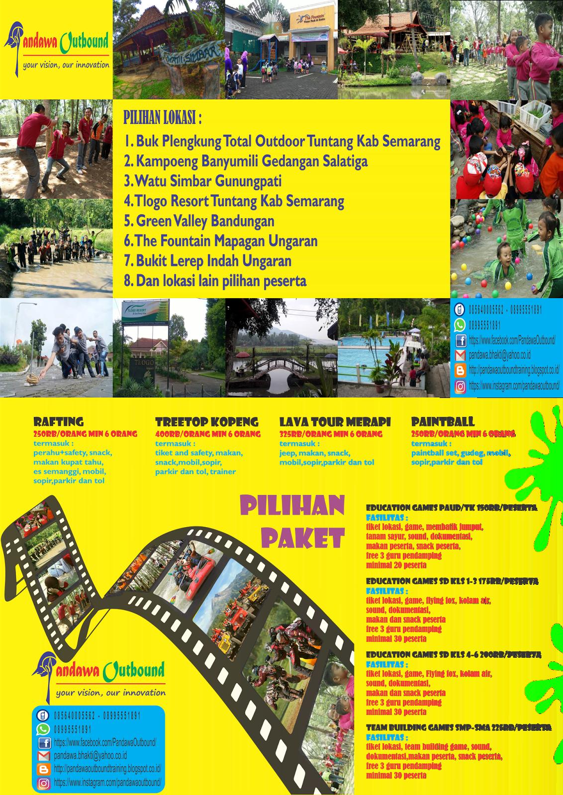 Pandawa Outbound Januari 2017 Rafting Murah Bukit Lerep Indah Kab