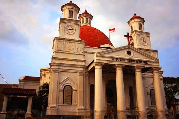 Gereja Blenduk Wisata Kota Tua Peninggalan Belanda Semarang Kab
