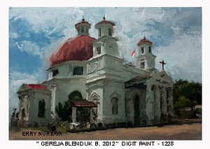 Jual Lukisan Gereja Blenduk Semarang Mezzo Art Tokopedia Kab