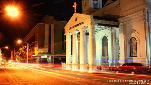 Wallpaper Keren Kota Semarang Gereja Blenduk Download Ukuran 1366 768px
