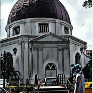 Wisata Gereja Blenduk Semarang Arsitektur Dibangun Oleh Bagian Depan Foto