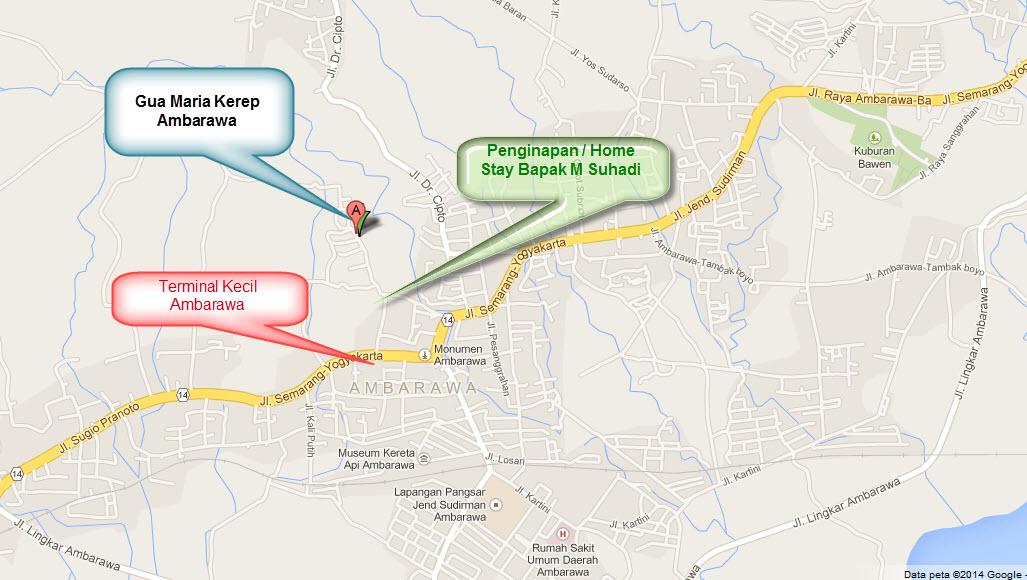 Lokasi Gua Maria Kerep Ambarawa Peta Penginapan Kab Semarang