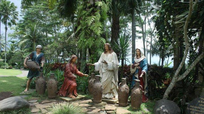 Menyaksikan Keindahan Taman Doa Kompleks Gua Maria Kerep Ambarawa Patung
