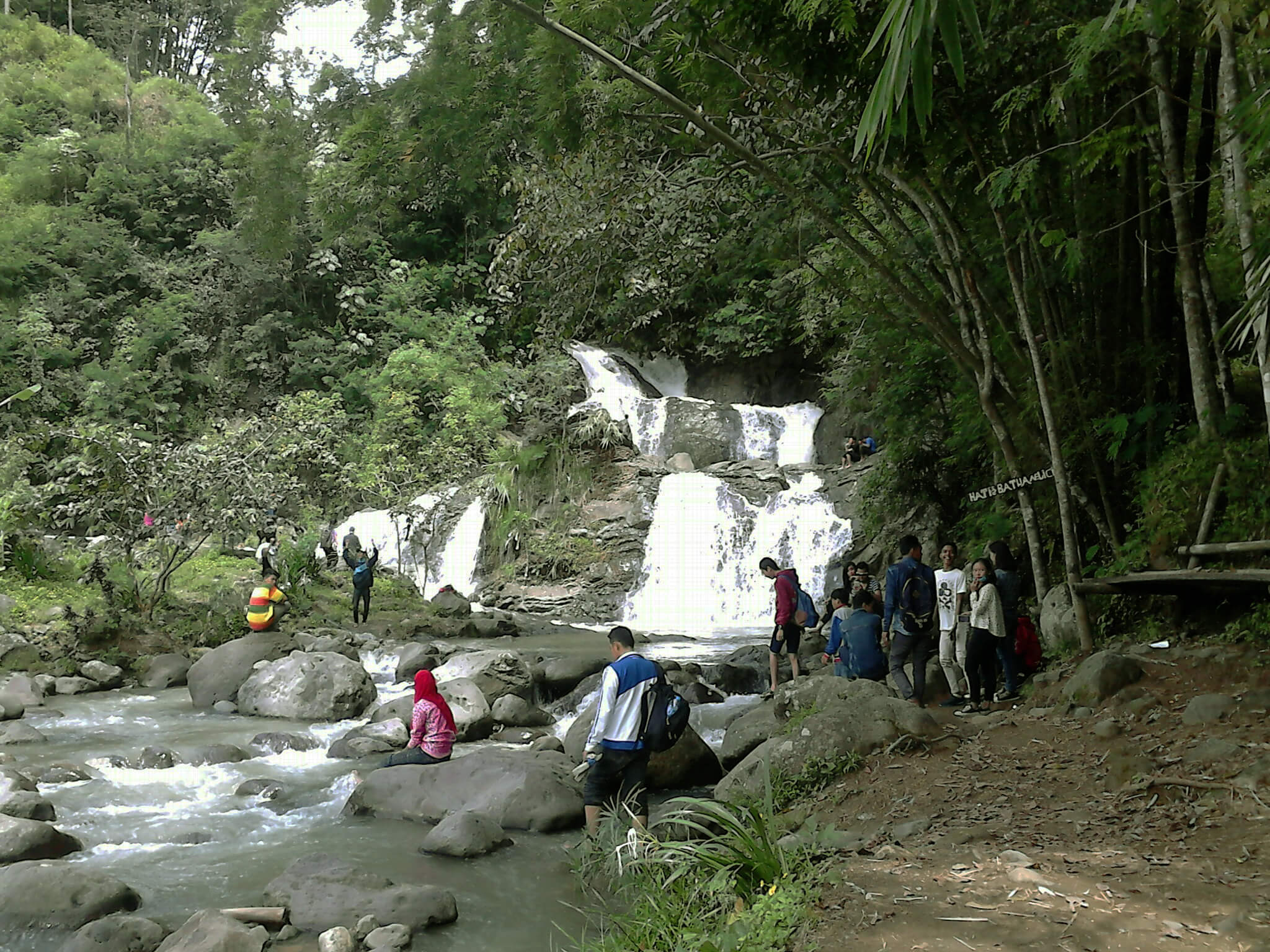 Curug Tujuh Bidadari Wisata Air Terjun Semarang Jungle Toon Waterpark