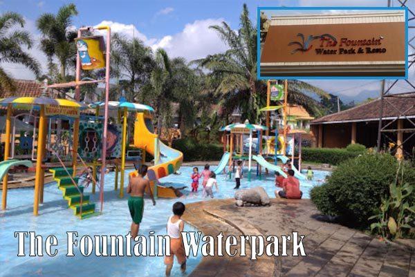 Wahana Wisata Permainan Air Waterpark Kota Semarang Kanal Fountain Ungaran