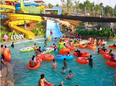 Waterblaster Gambar Family Slide Jungle Toon Waterpark Semarang Kab