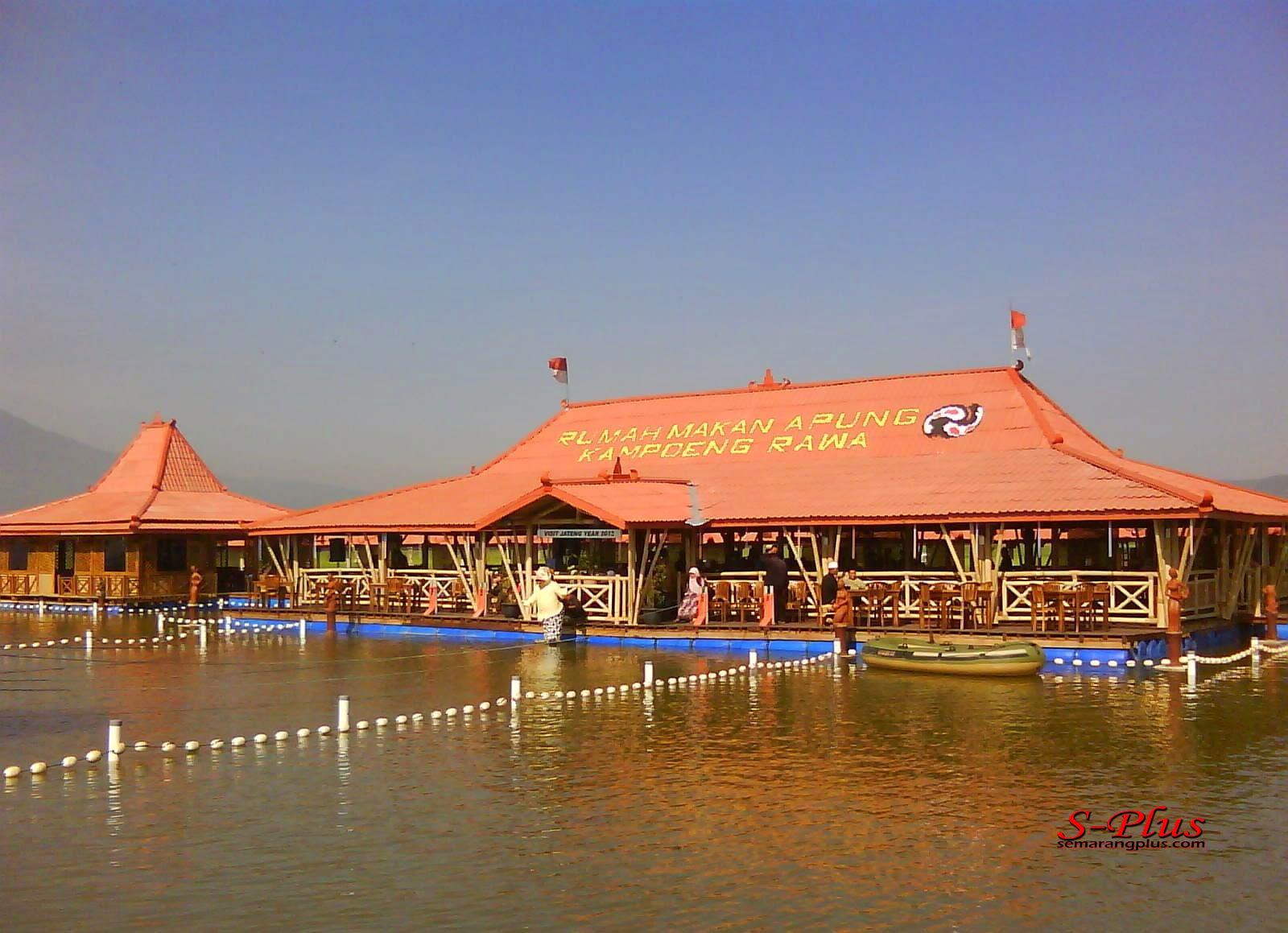 Wisata Apung Kampoeng Rawa Ambarawa Kabupaten Semarang Rumah Makan Jungle
