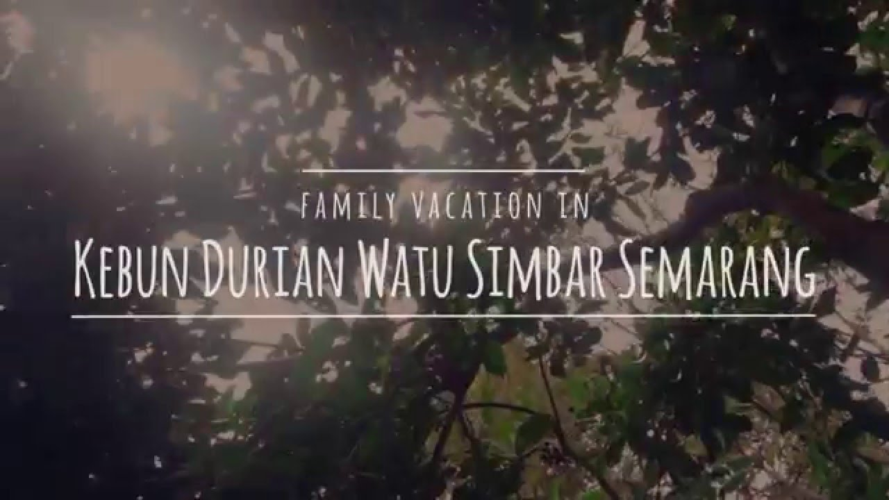 Kebun Durian Watu Simbar Semarang Youtube Wisata Edukasi Kab
