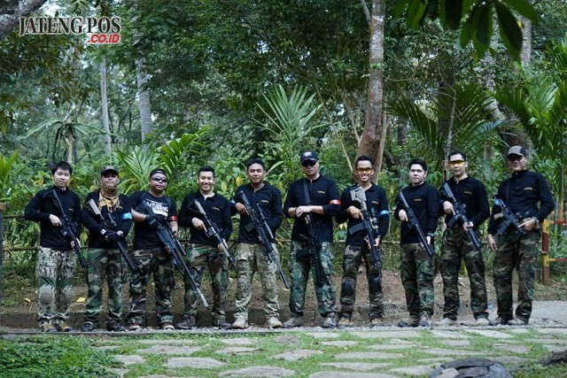 Mengenal Cannon Gel Airsoft Semarang Jateng Pos Kompak Anggota Berfoto