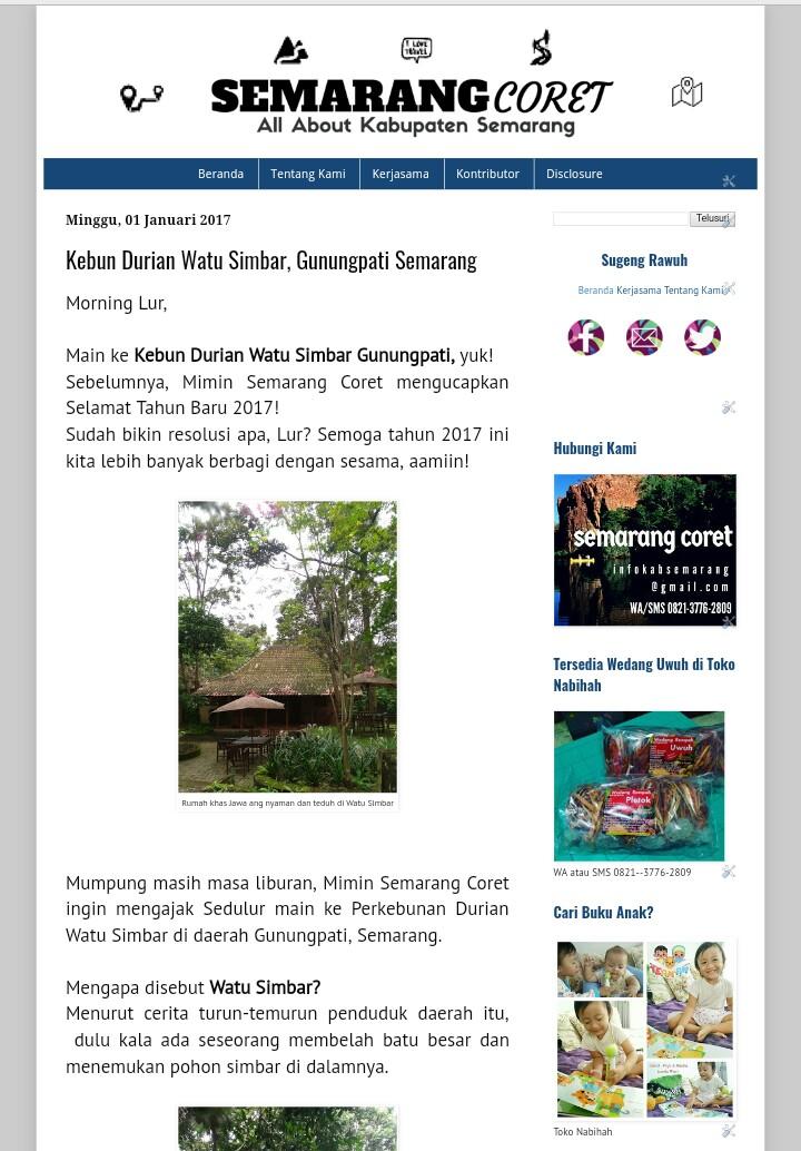 Semarang Coret Berbagi Cerita Wisata Kabupaten Seiring Waktu Melihat Potensi
